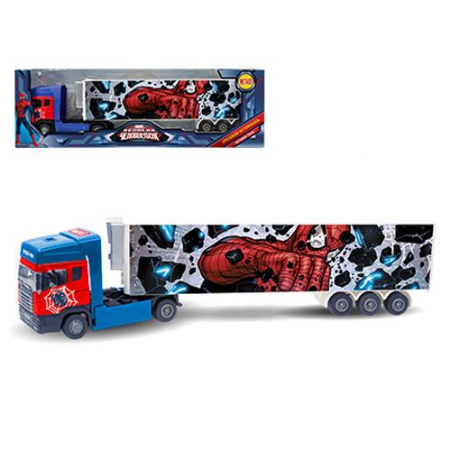Машинка  Человек-Паук - тягач с полуприцепом, Spider-Man, Marvel, Мстители, 1:48Spider-Man (Игрушки Человек Паук)<br>Машинка  Человек-Паук - тягач с полуприцепом, Spider-Man, Marvel, Мстители, 1:48<br>