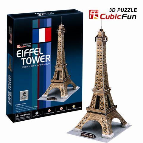 Трёхмерные пазлы Париж – Эйфелева башняПазлы объёмные 3D<br>Трёхмерные пазлы Париж – Эйфелева башня<br>