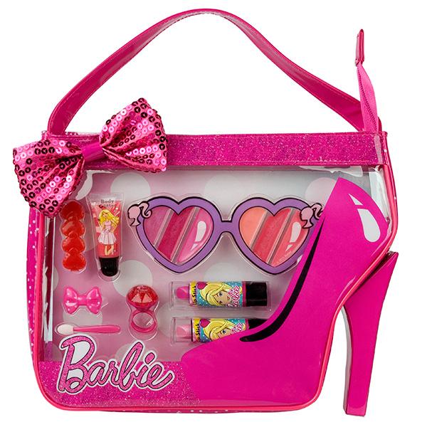 Набор детской декоративной косметики из серии Barbie, в сумочкеЮная модница, салон красоты<br>Набор детской декоративной косметики из серии Barbie, в сумочке<br>