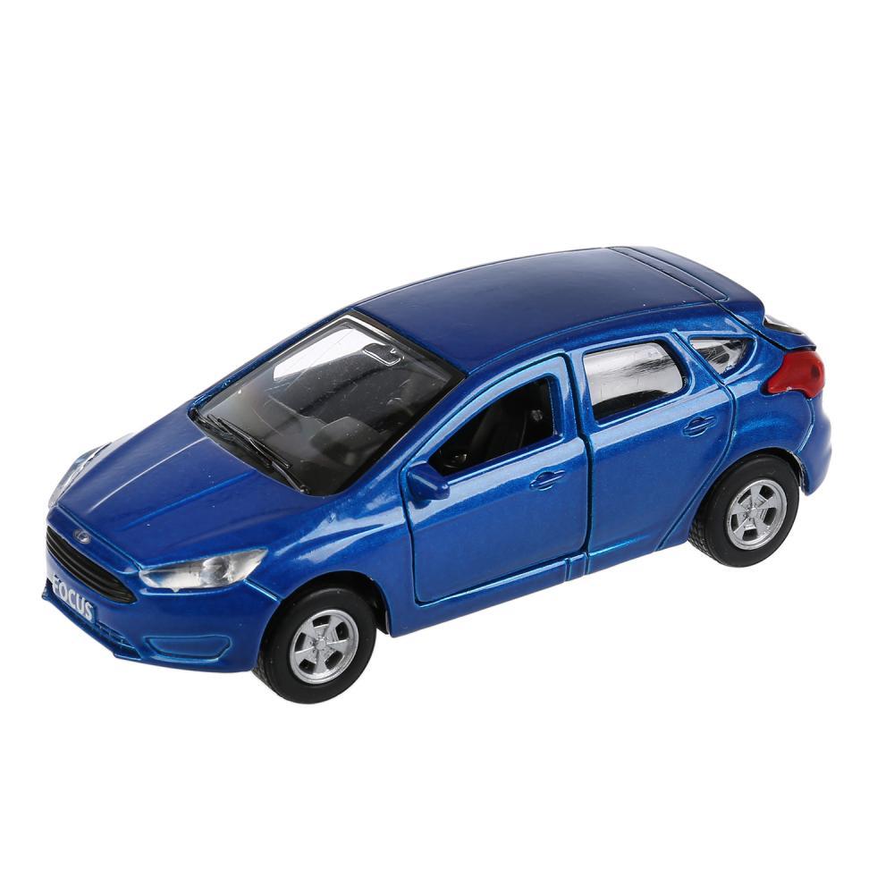 Купить Инерционная металлическая машина - Ford Focus хэтчбек, синий 12 см, открываются двери, Технопарк