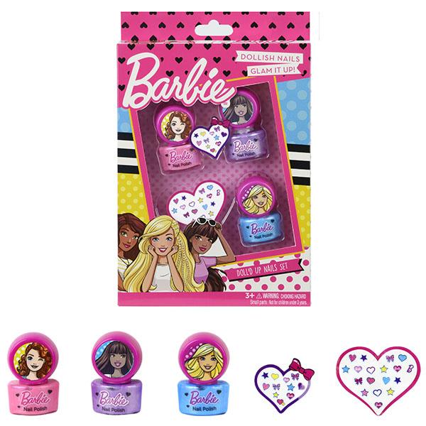 Игровой набор детской декоративной косметики для ногтей - BarbieЮная модница, салон красоты<br>Игровой набор детской декоративной косметики для ногтей - Barbie<br>