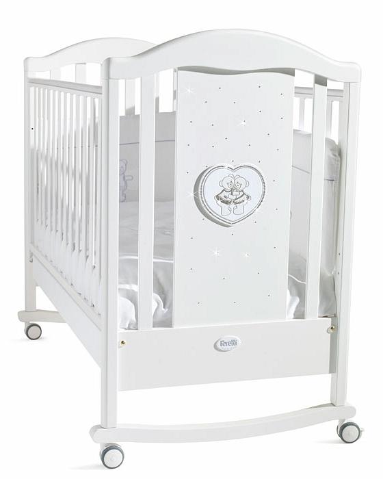 Кровать детская из серии Mon Amour Dondolo, белаяДетские кровати и мягкая мебель<br>Кровать детская из серии Mon Amour Dondolo, белая<br>