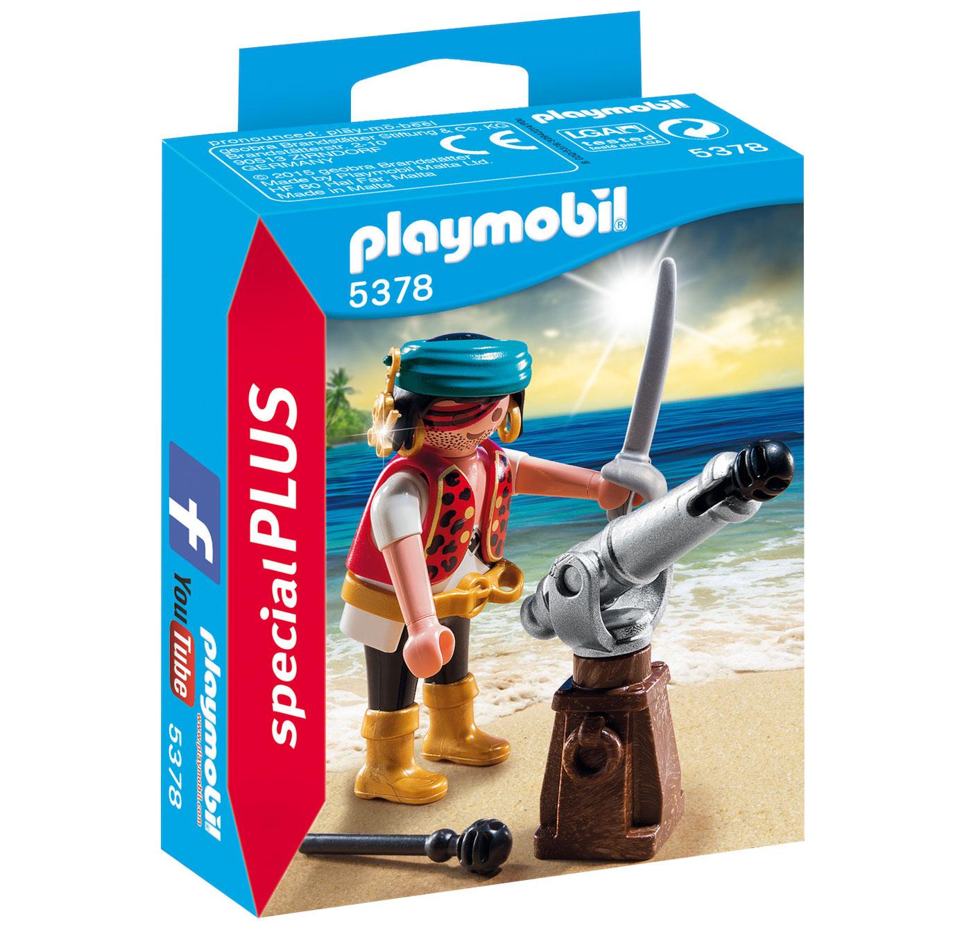 Купить со скидкой Экстра игровой набор: Пират с пушкой, 10 деталей