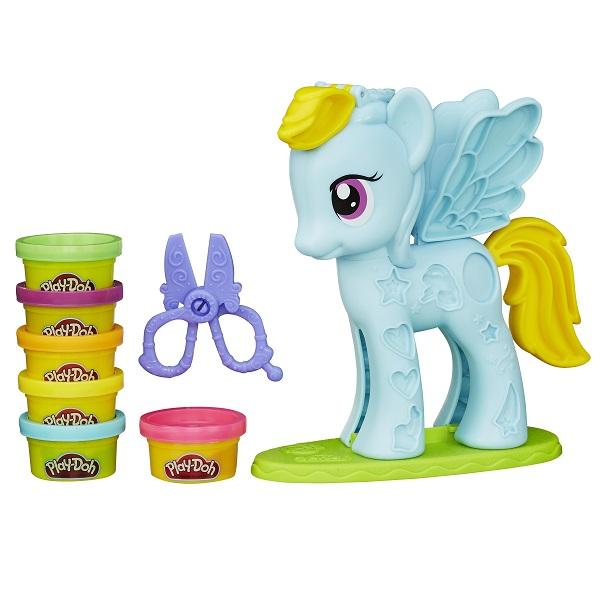Набор из серии Play-Doh Стильный салон Рэйнбоу ДэшПластилин Play-Doh<br>Набор из серии Play-Doh Стильный салон Рэйнбоу Дэш<br>