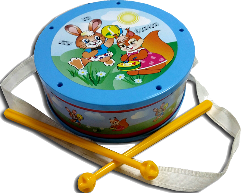 Игрушечный музыкальный инструмент БарабанБарабаны, маракасы<br>Игрушечный музыкальный инструмент Барабан<br>