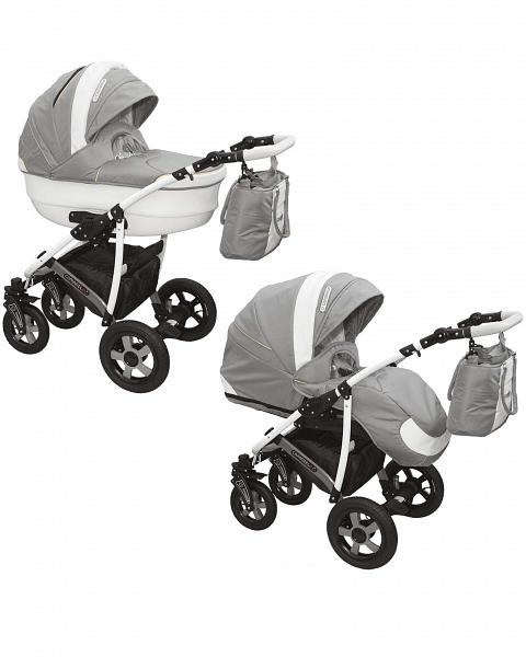 Детская коляска Camarelo Carmela 2 в 1, сераяДетские коляски 2 в 1<br>Детская коляска Camarelo Carmela 2 в 1, серая<br>