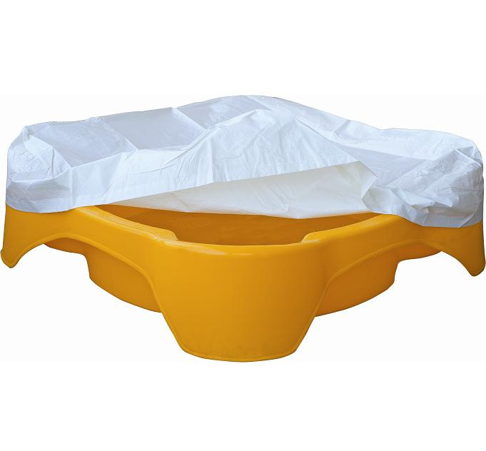 Детская пластиковая песочница мини-бассейн Marian Plast 378, квадратная с покрытием