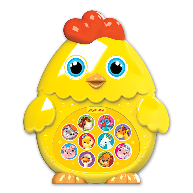 Купить Игрушка музыкальная из серии Зверята-малышата - Цыпленок, Азбукварик