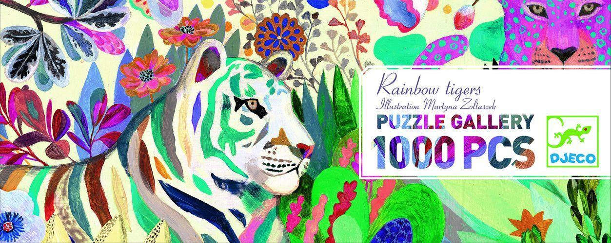 Купить Пазл - Тигры, 1000 деталей, Djeco