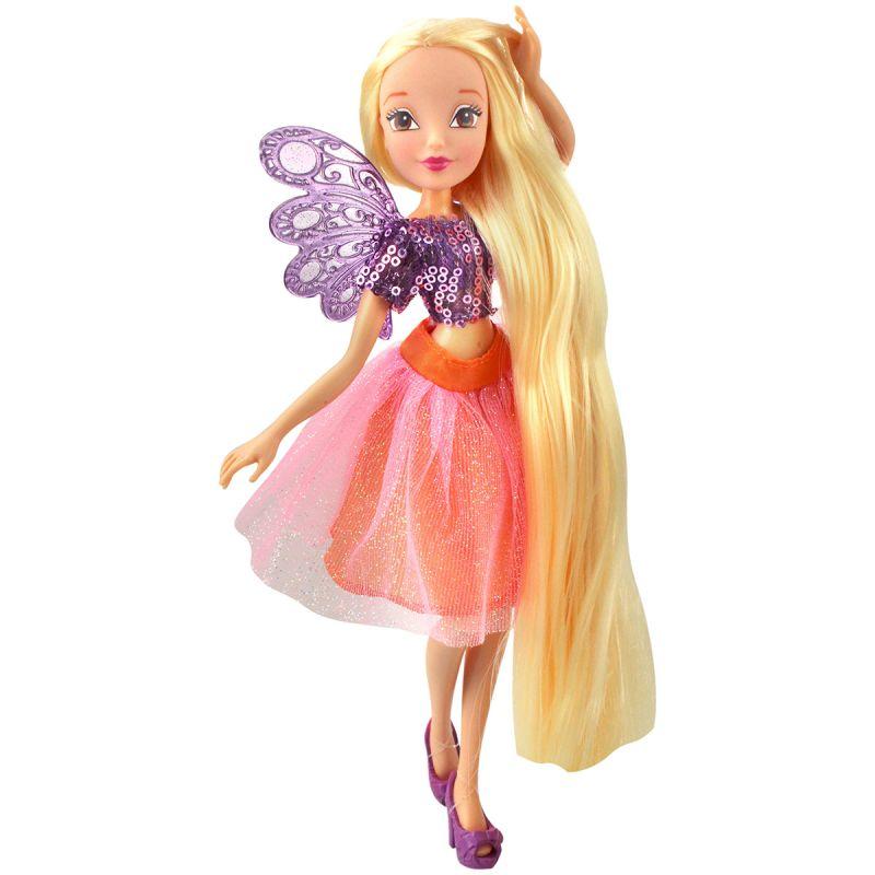 Кукла Стелла из серии Winx Club Мерцающее облакоКуклы Винкс (Winx)<br>Кукла Стелла из серии Winx Club Мерцающее облако<br>