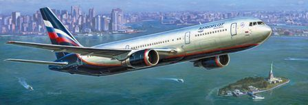 Модель для склеивания - Авиалайнер Боинг 767-300Модели самолетов для склеивания<br>Модель для склеивания Боинг-767...<br>
