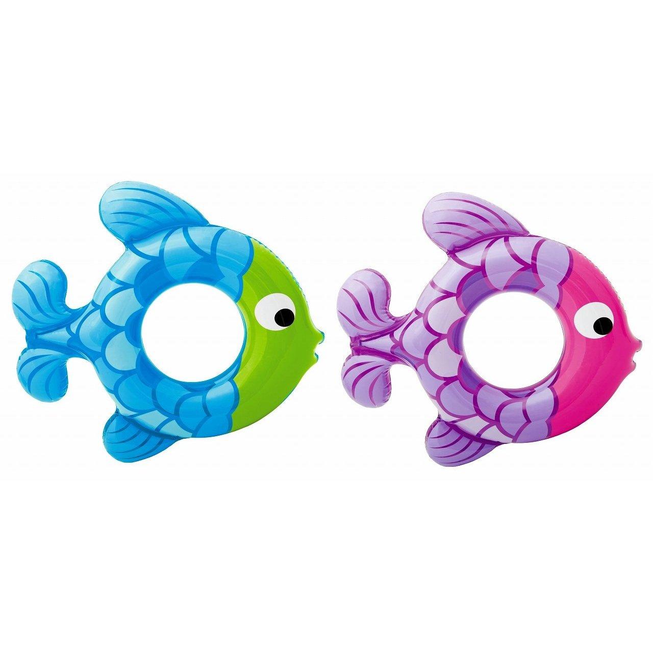 Круг надувной – Рыбка, 2 видаНадувные животные, круги и матрацы<br>Круг надувной – Рыбка, 2 вида<br>