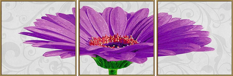 Триптих. Раскраска по номерам - Гербера фиолетоваяРаскраски по номерам Schipper<br>Триптих. Раскраска по номерам - Гербера фиолетовая<br>