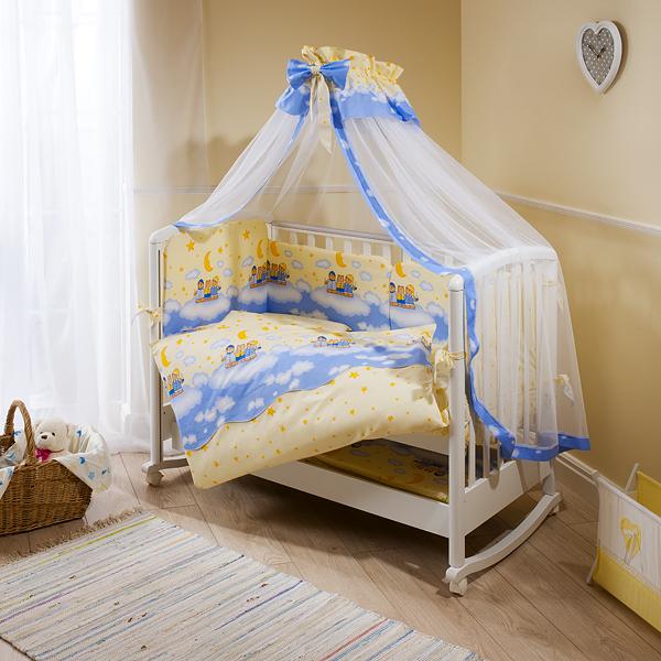 Комплект постельного белья Аманда, ночка голубойДетское постельное белье<br>Комплект постельного белья Аманда, ночка голубой<br>