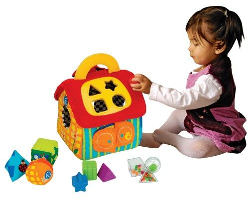 Мягкий домик-сортерСортеры, пирамидки<br>Мягкий дом - сортер - это большой обучающий и развивающий игровой набор: множество элементов, различные материалы, поверхности, цвета...<br>