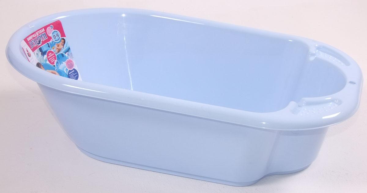 Ванночка детская Дельфин 84 см., голубая пастельная, Little Angel  - купить со скидкой