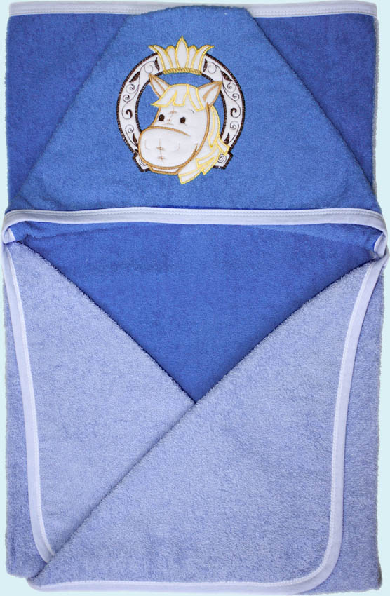 Банное полотенце, голубоеКупание ребенка<br>Банное полотенце, голубое<br>