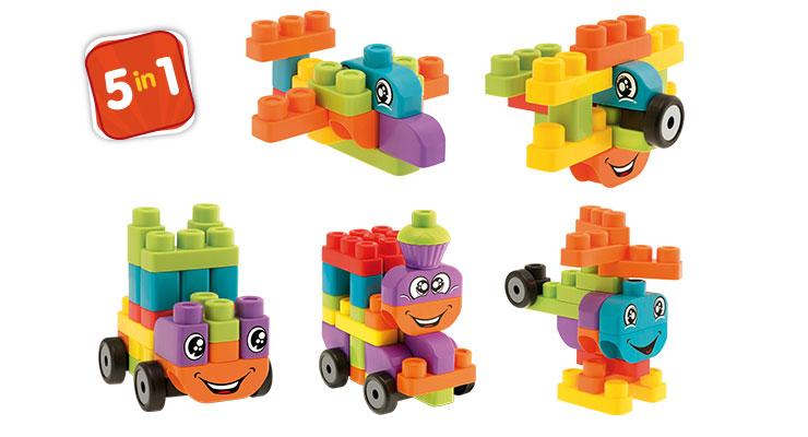 Набор строительных блоков – Машины, 40 блоковКонструкторы других производителей<br>Набор строительных блоков – Машины, 40 блоков<br>