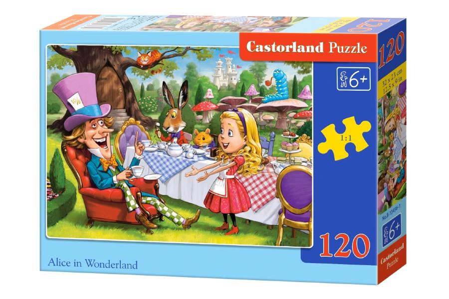Купить Пазл – Алиса в стране чудес, 120 деталей, Castorland