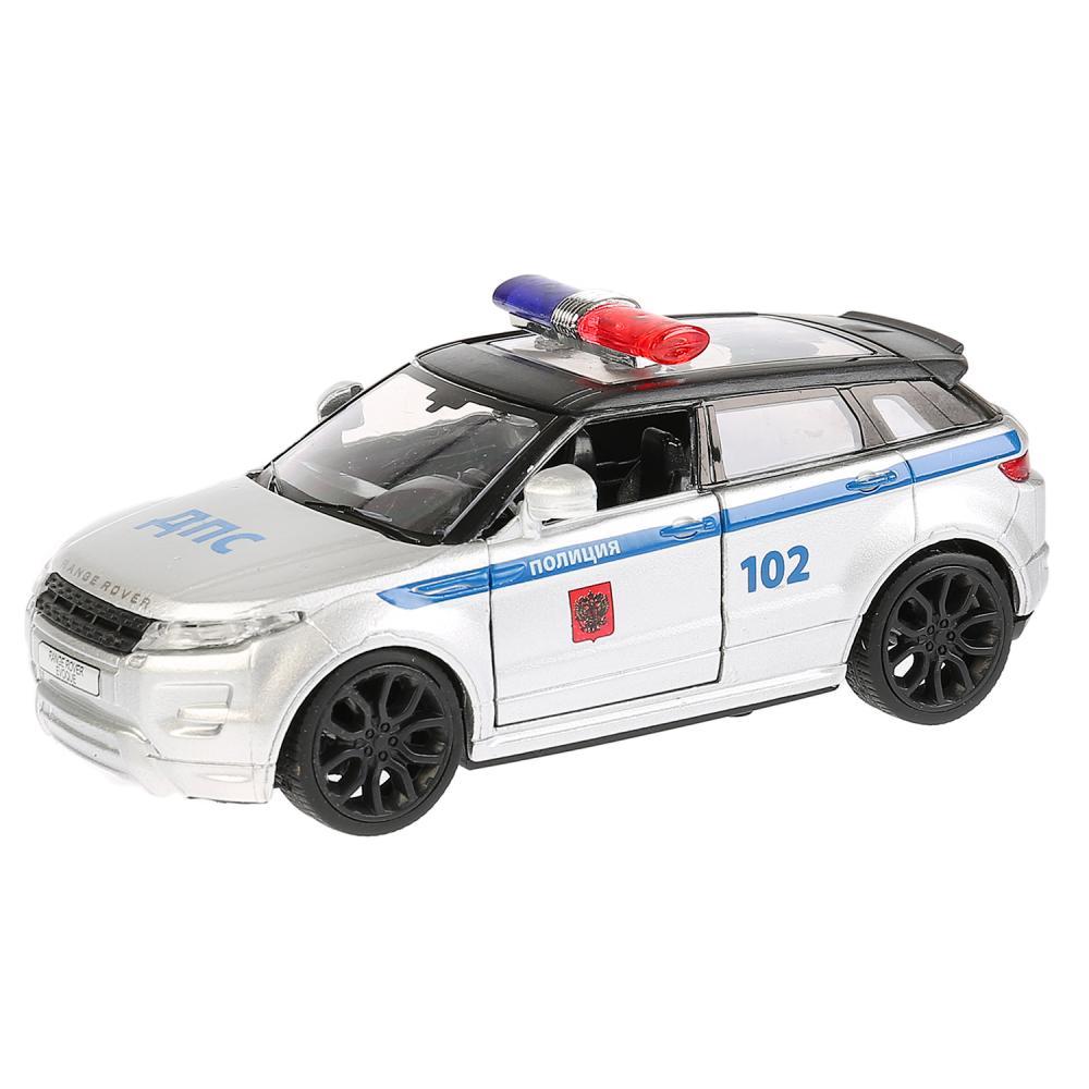 Купить Инерционная металлическая машина - Land Rover Range Rover Evoque - Полиция 12, 5 см, открываются двери, Технопарк