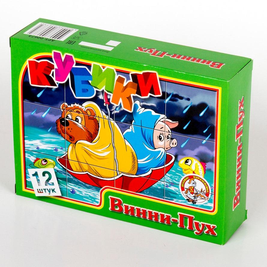 Кубики - Винни-Пух, 12 штукКубики<br>Кубики - Винни-Пух, 12 штук<br>