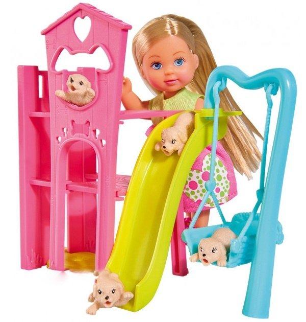 Набор кукла Еви с собачками - Игровая площадка для питомцевКуклы Еви<br>Набор кукла Еви с собачками - Игровая площадка для питомцев<br>
