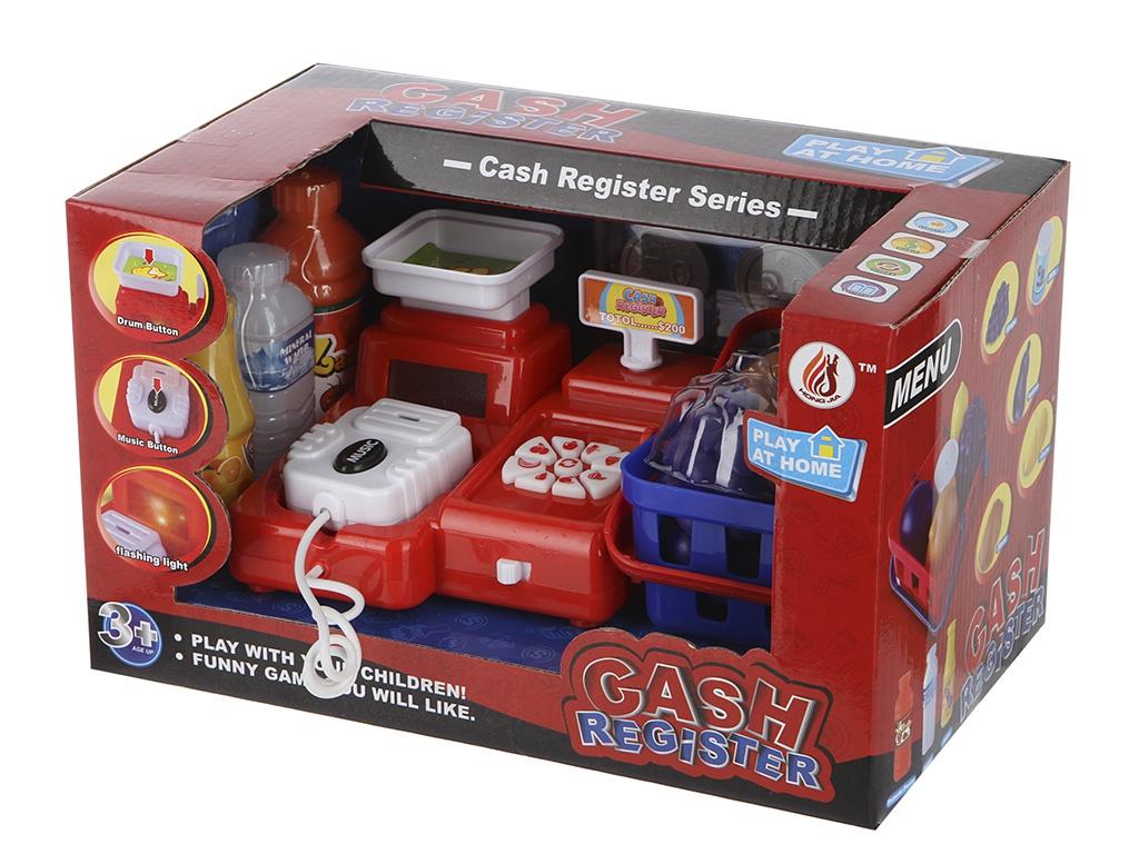 Кассовый аппарат с продуктами, свет, звукДетская игрушка Касса. Магазин. Супермаркет<br>Кассовый аппарат с продуктами, свет, звук<br>