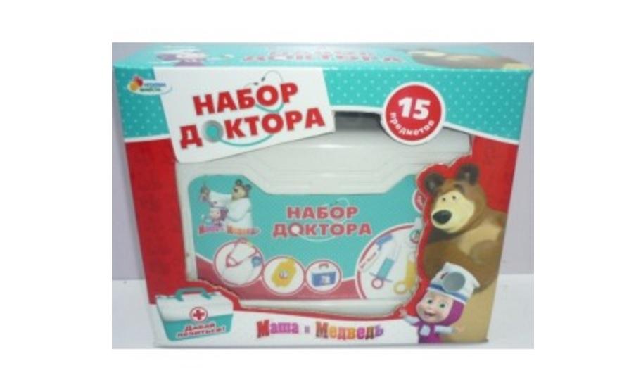 Набор доктора из серии Маша и медведь, в чемоданеНаборы доктора детские<br>Набор доктора из серии Маша и медведь, в чемодане<br>