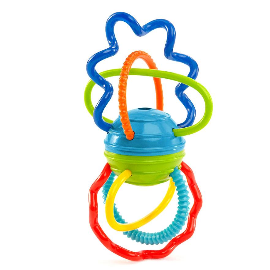 Развивающая игрушка Разноцветная гантелькаДетские развивающие игрушки<br>Развивающая игрушка Разноцветная гантелька<br>