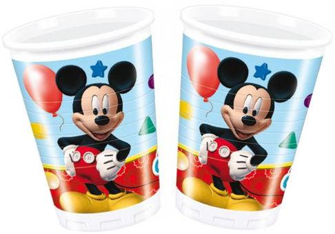 Стакан пластиковый, Игривый Микки, 8 штук, 200 млМикки Маус<br>Стакан пластиковый, Игривый Микки, 8 штук, 200 мл<br>
