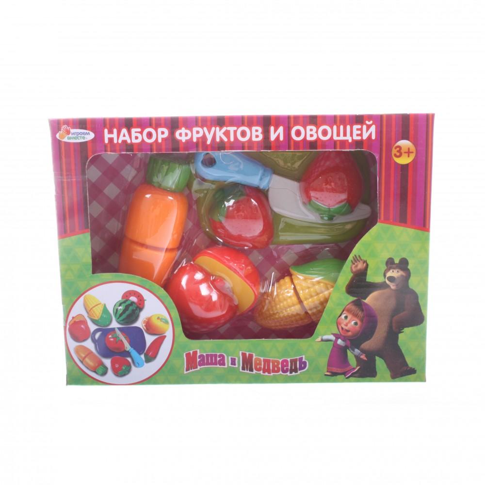 Набор фруктов и овощей из серии «Маша и медведь»Аксессуары и техника для детской кухни<br>Набор фруктов и овощей из серии «Маша и медведь»<br>