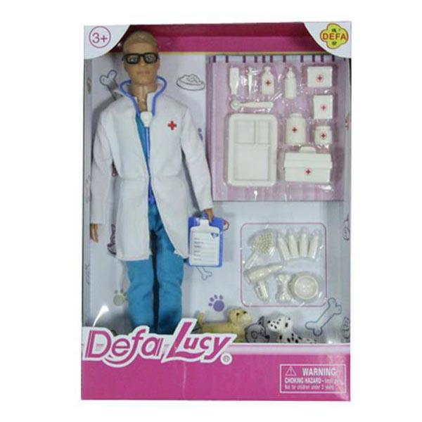 Кукла Defa - Ветеринар с 2 собачками и аксессуарамиКуклы Defa Lucy<br>Кукла Defa - Ветеринар с 2 собачками и аксессуарами<br>