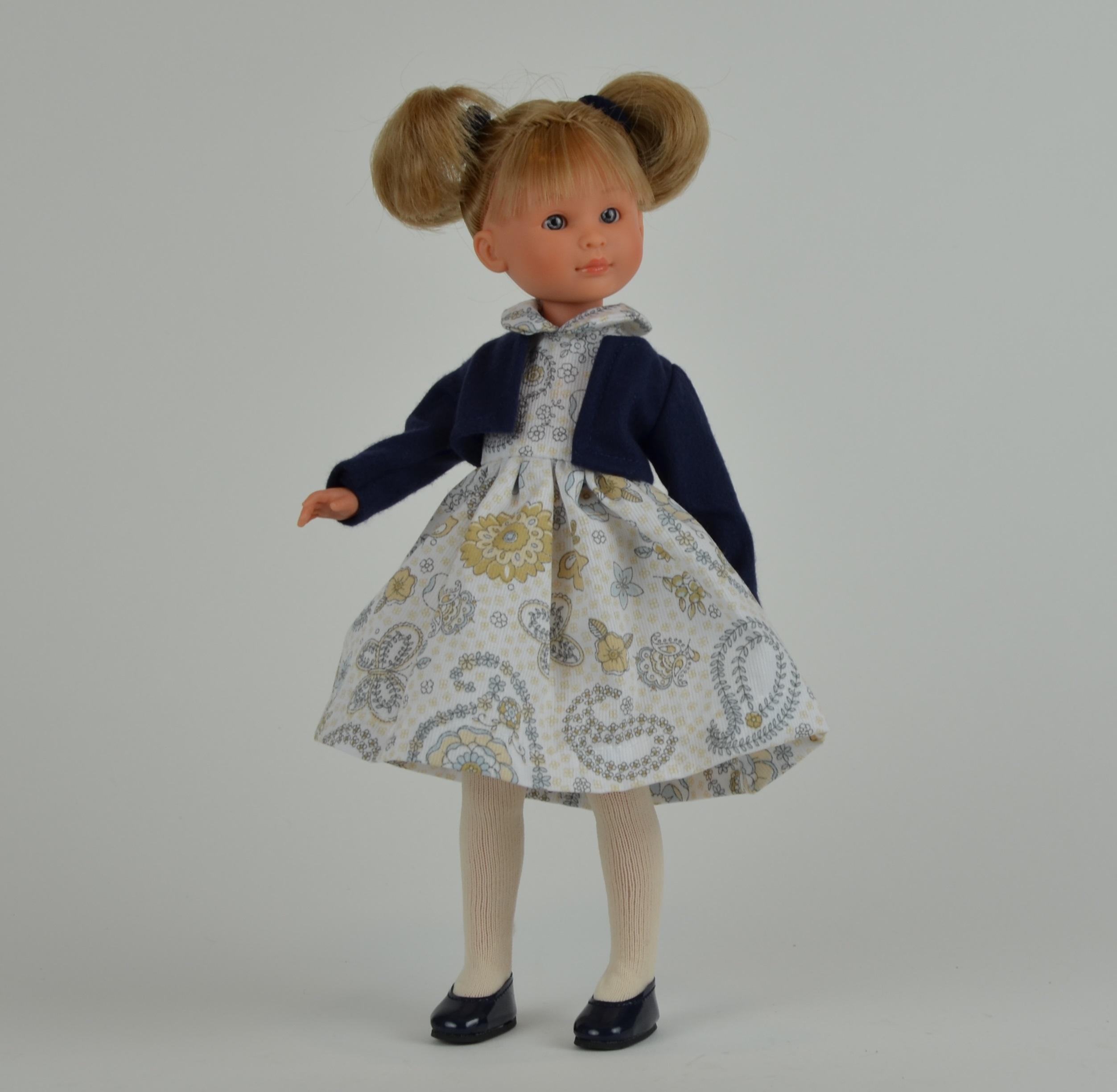Кукла Селия в синем болеро, 30 см.Куклы ASI (Испания)<br>Кукла Селия в синем болеро, 30 см.<br>