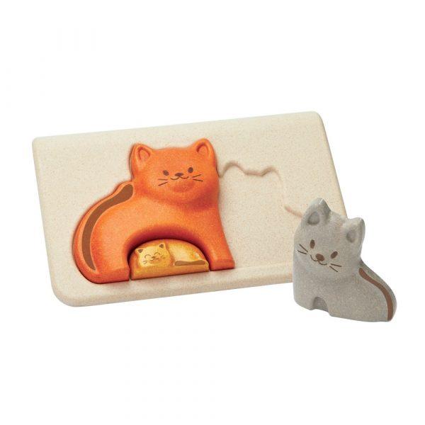 Купить Пазл – Котята, деревянный, Plan Toys