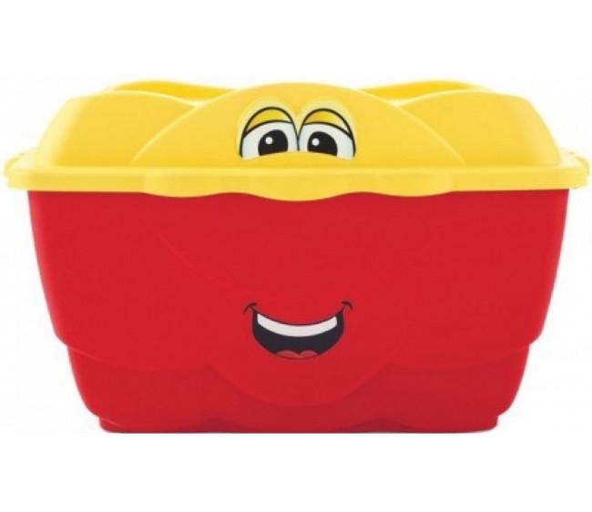 Веселый контейнер Step 2, красный 128 литровКорзины для игрушек<br>Веселый контейнер Step 2, красный 128 литров<br>