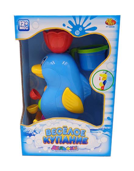 Дельфин-мельница для ванной, в наборе с формочкой   – Веселое купаниеРазвивающие игрушки<br>Дельфин-мельница для ванной, в наборе с формочкой   – Веселое купание<br>