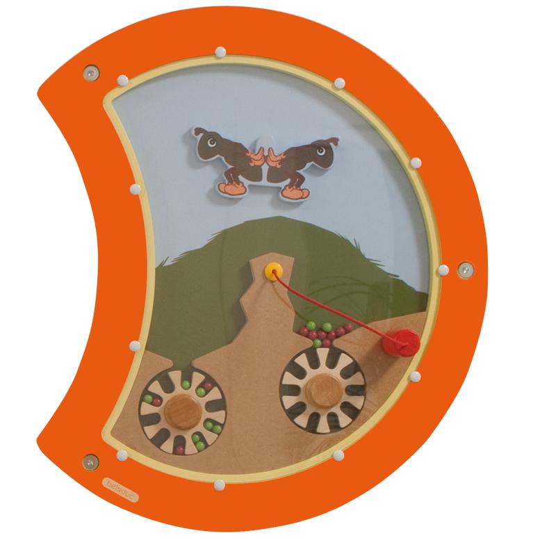 Настенный игровой элемент - Гусеница. БалансРазвивающие центры<br>Настенный игровой элемент - Гусеница. Баланс<br>