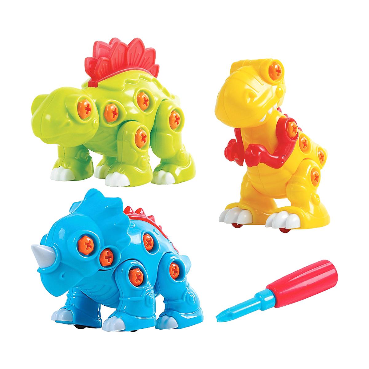 Игровой набор  Собери динозавра, 3 шт. - Конструкторы Bauer Кроха (для малышей), артикул: 155791