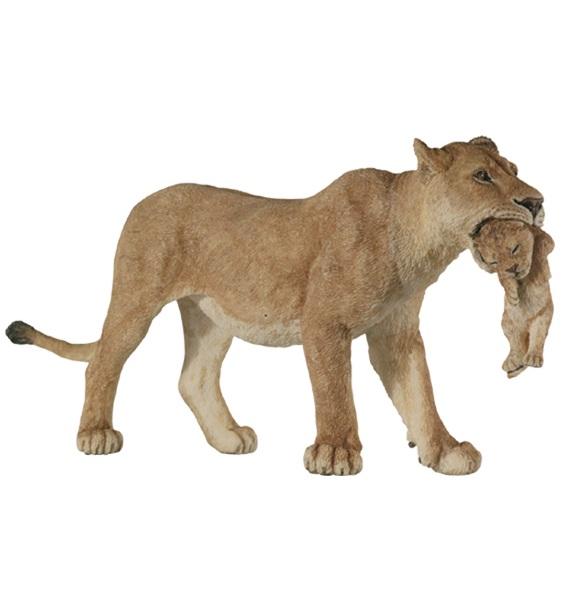Игрушечная фигурка львицы с львёнком фото