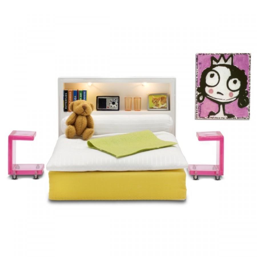 Мебель для домика из серии Стокгольм – СпальняКукольные домики<br>Мебель для домика из серии Стокгольм – Спальня<br>