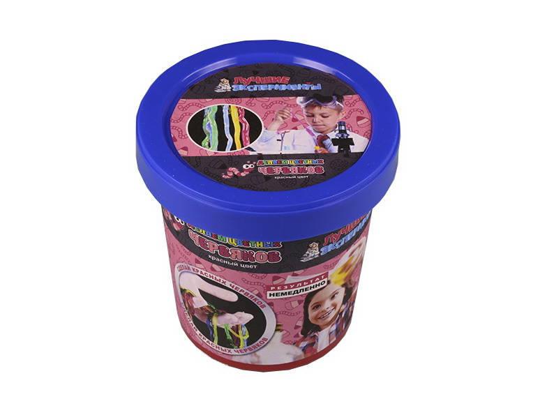 Купить Микро-набор для экспериментов - Делаем цветных червяков, красный, Лучшие эксперименты
