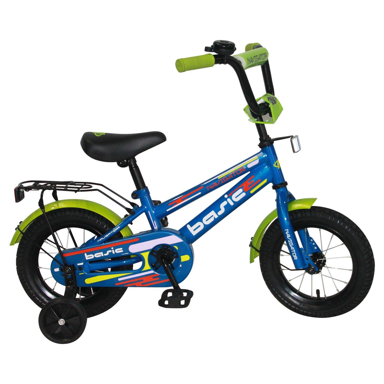 Купить Детский велосипед, Navigator Basic, колеса 12 , стальная рама, стальные обода, ножной тормоз