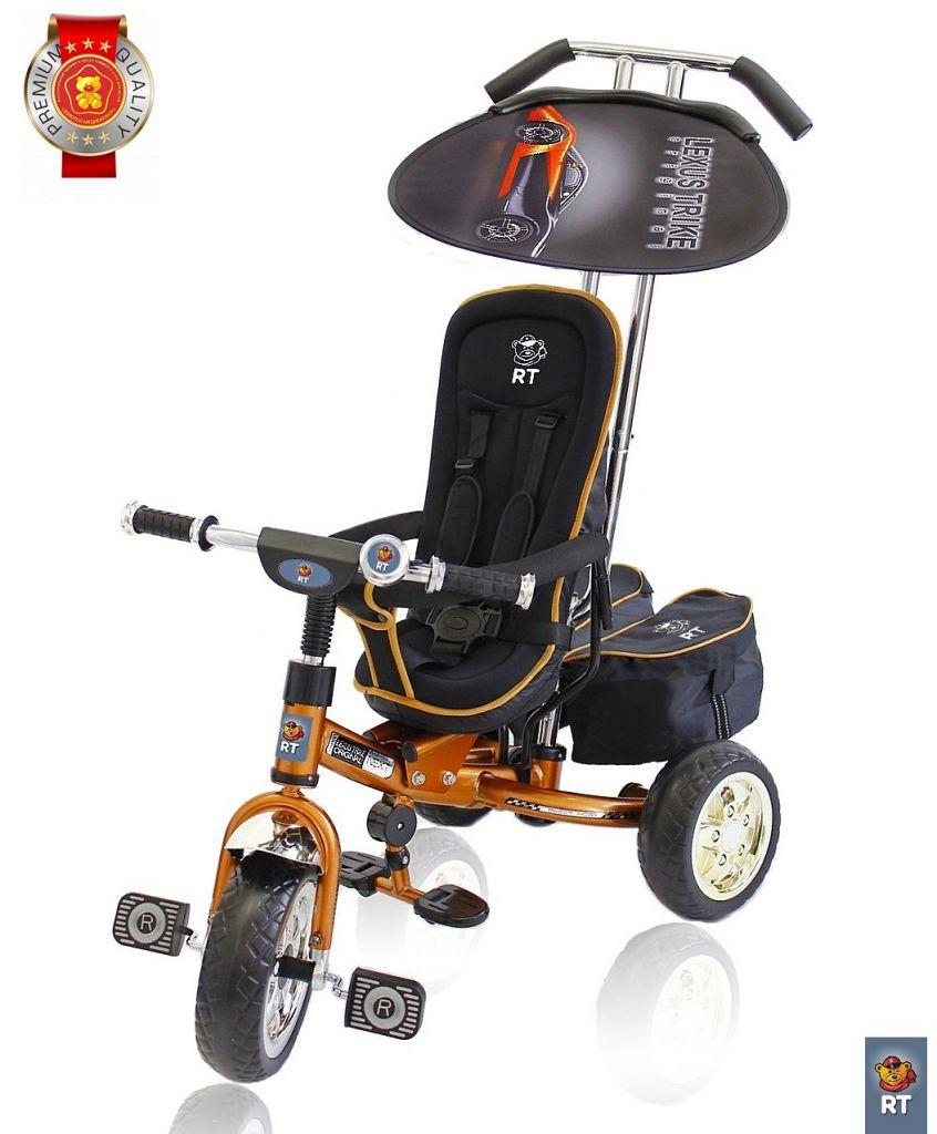3-х колесный велосипед Lexus Trike original RT Next Deluxe, с высокой спинкой, бронзовый - Велосипеды детские, артикул: 158631