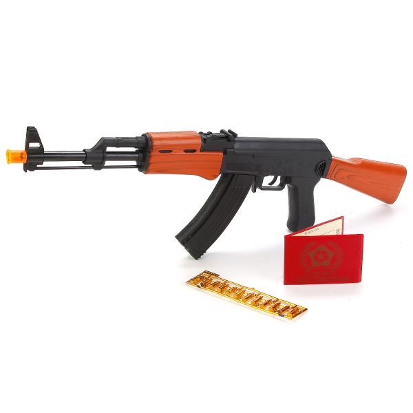 Автомат АК-47 со светом и звукомАвтоматы, пистолеты, бластеры<br>Автомат АК-47 со светом и звуком<br>
