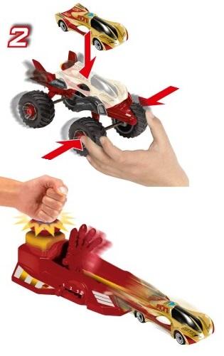 Набор Железный Человек: пусковая установка, 2 машинки и дополнительное шассиЖелезный человек 3 игрушки<br>Набор Железный Человек: пусковая установка, 2 машинки и дополнительное шасси<br>