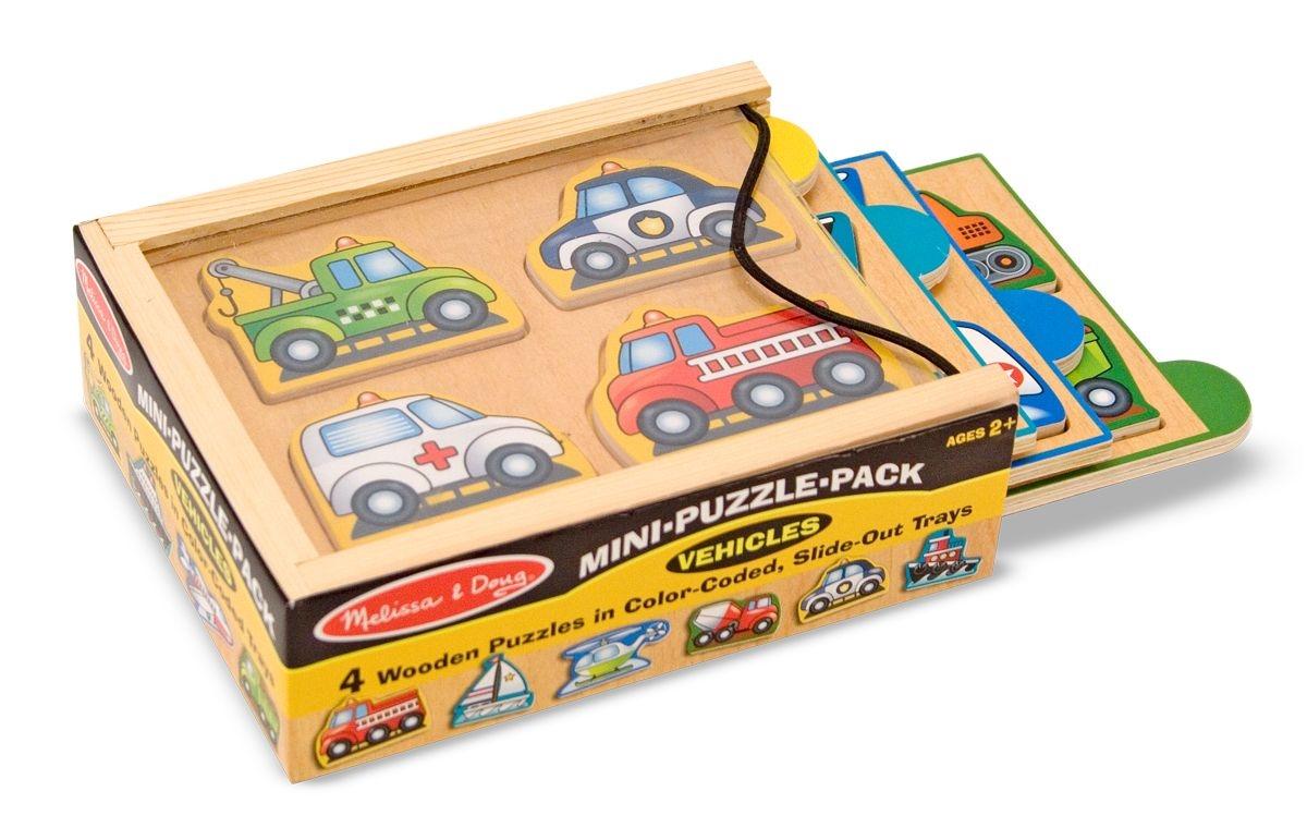 Купить Набор из 4 мини-пазлов Транспорт, 4 элемента, Melissa&Doug