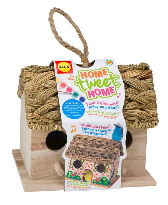 Набор для декора деревянного домика для птиц - Дом, милый дом, от 5 летЛаковая миниатюра и роспись по дереву<br>Набор для декора деревянного домика для птиц - Дом, милый дом, от 5 лет<br>