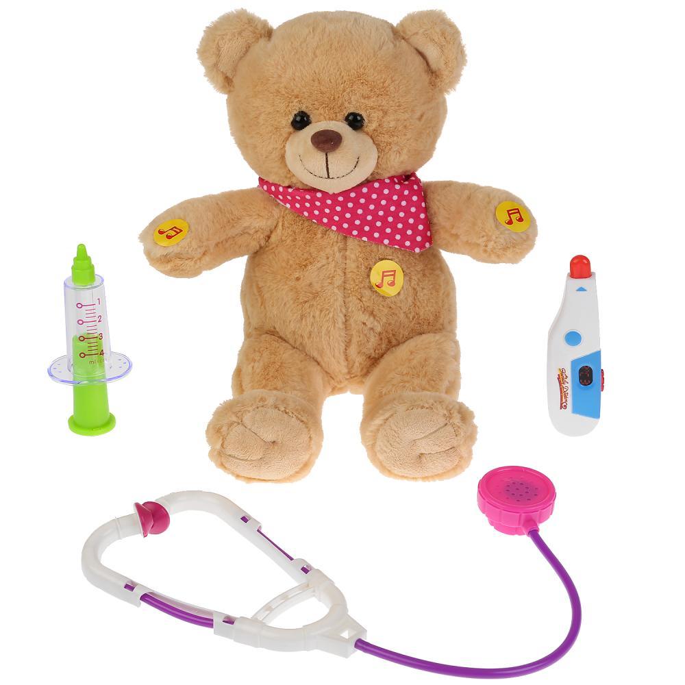 Купить Интерактивная мягкая игрушка - Мишка-доктор, 23 см, 8 игровых функций, Мульти-Пульти