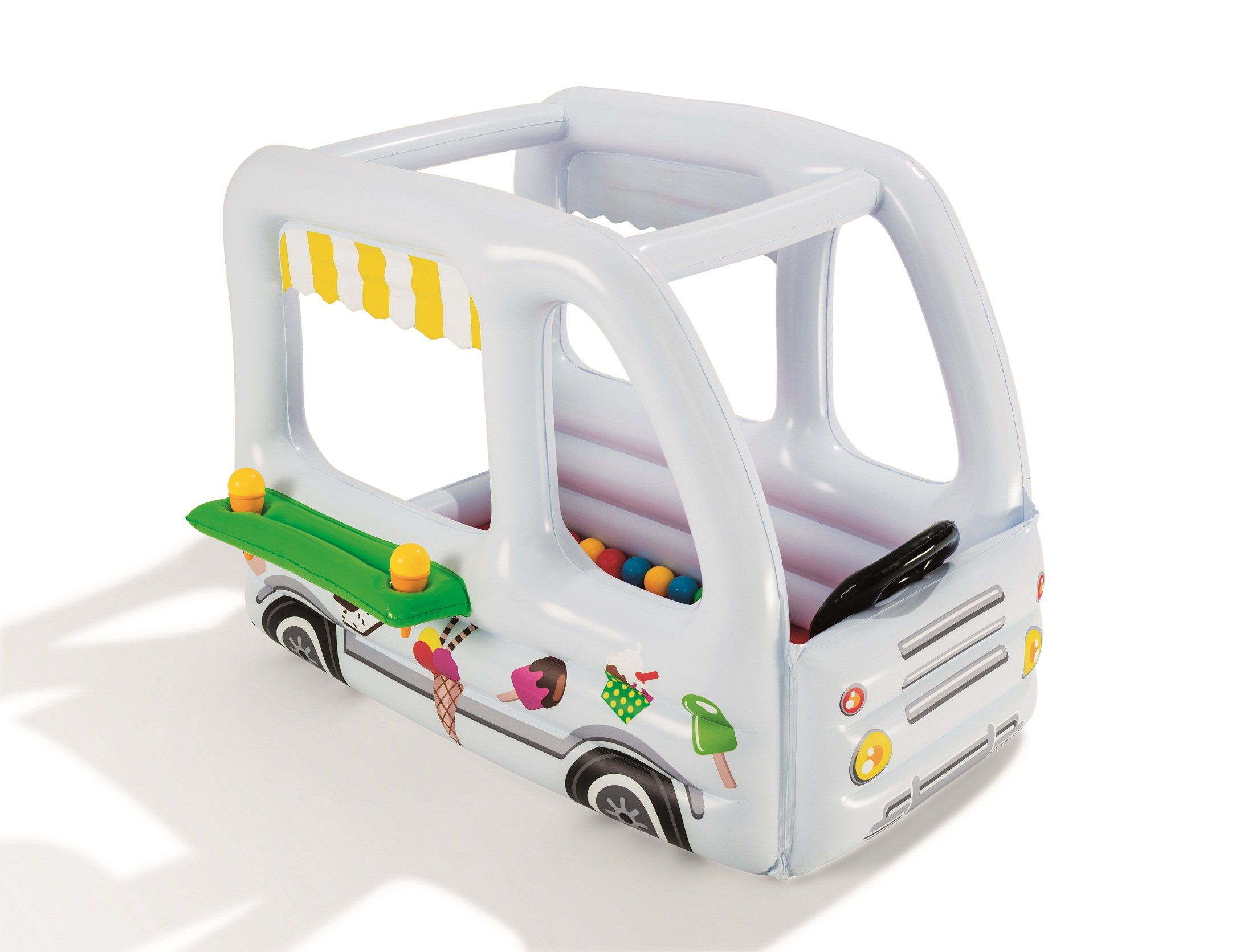 Купить Игровой центр - Фургон с 10 шариками и рожком для мороженого, Bestway