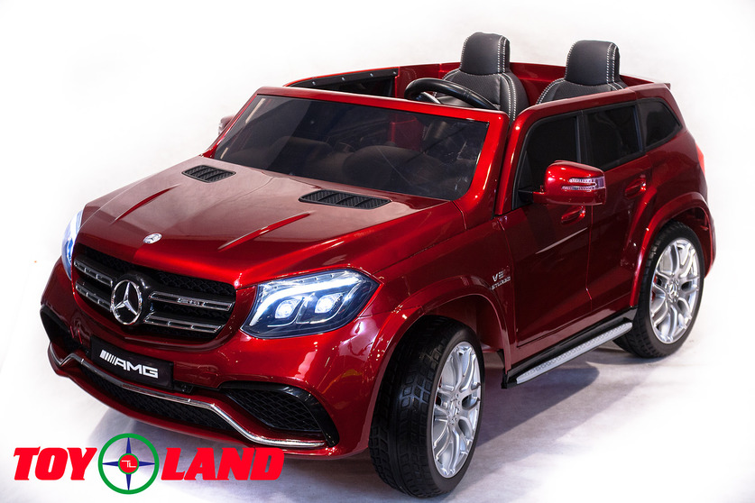 Электромобиль Mercedes-Benz GLS63 AMG, красного цвета